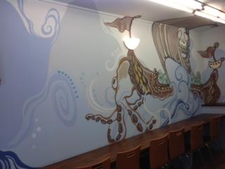 大阪府豊中市 店舗 アート壁面塗装