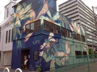 大阪府大阪市寝屋川市 店舗 アート壁面塗装