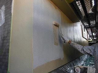 施工中:水性アクリルシリコン樹脂系遮熱塗料